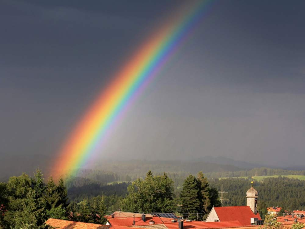 Rainbow in the evening