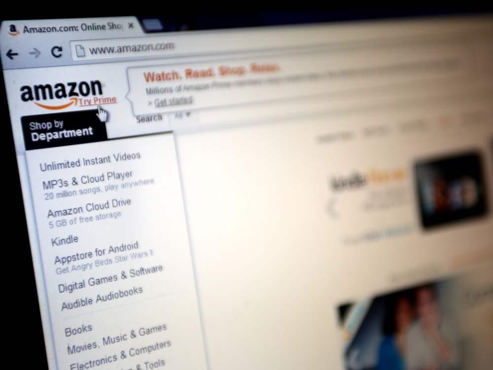 Amazon website homepage