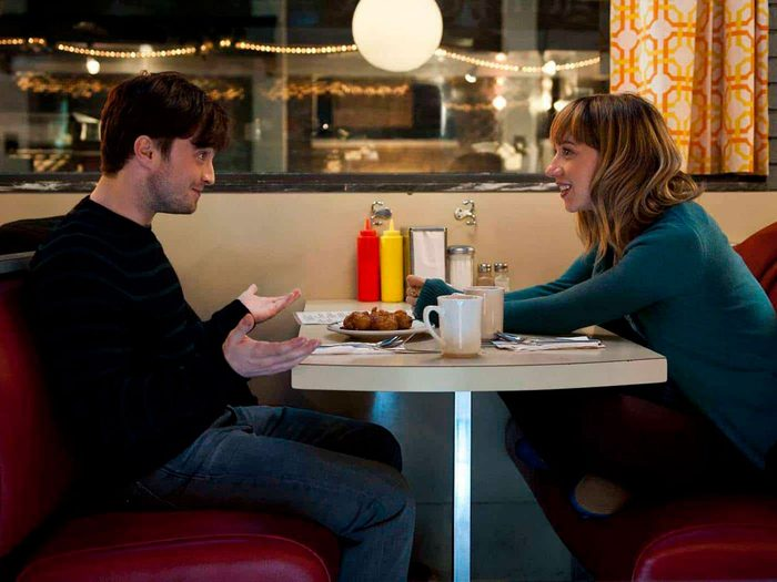 "Daniel Radcliffe and Zoe Kazan in ""The F Word"""