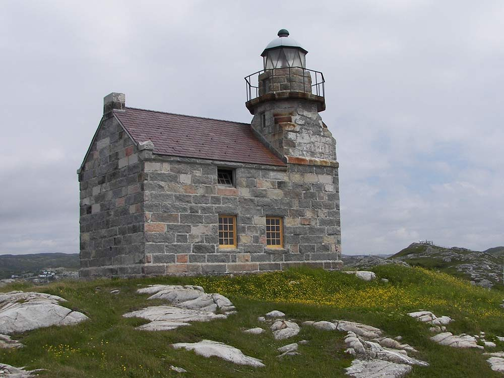 Granite lighthouse in Newfoundland