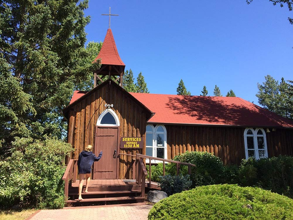 Log church in Alberta
