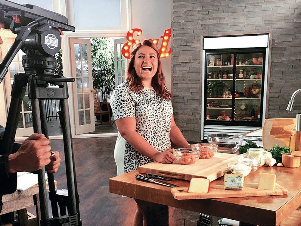 Vanessa Gianfrancesco filming her show
