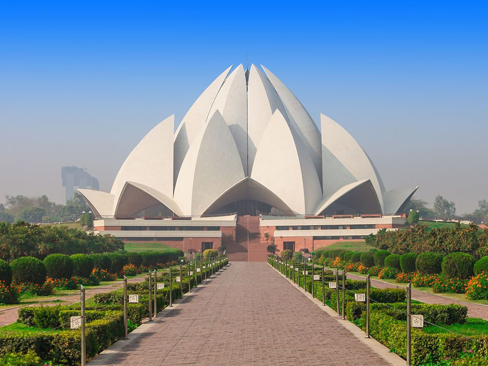 Canadians travelling to India may visit the Lotus Temple in New Delhi