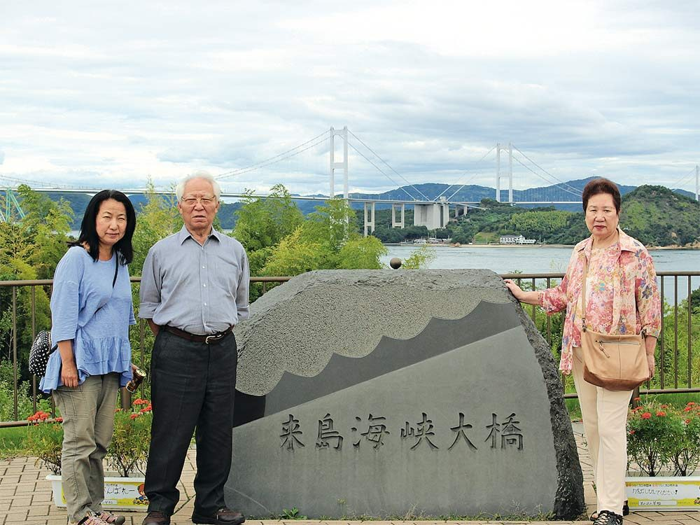 Rie visiting her parents in Japan