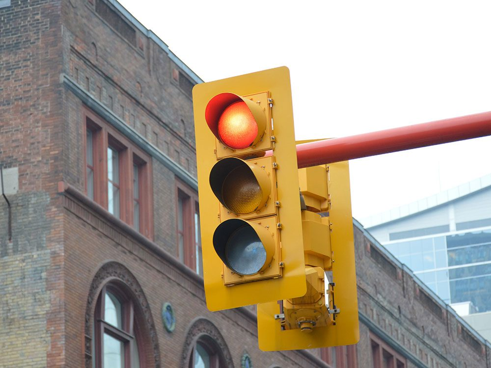 Feeling queasy in the car at a red light