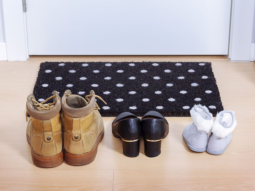 House cleaning hacks: Use doormats