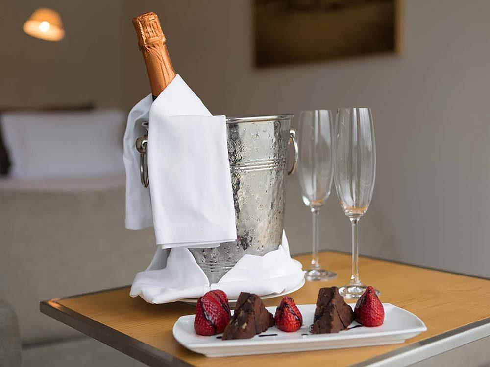 Wine and fruit dessert