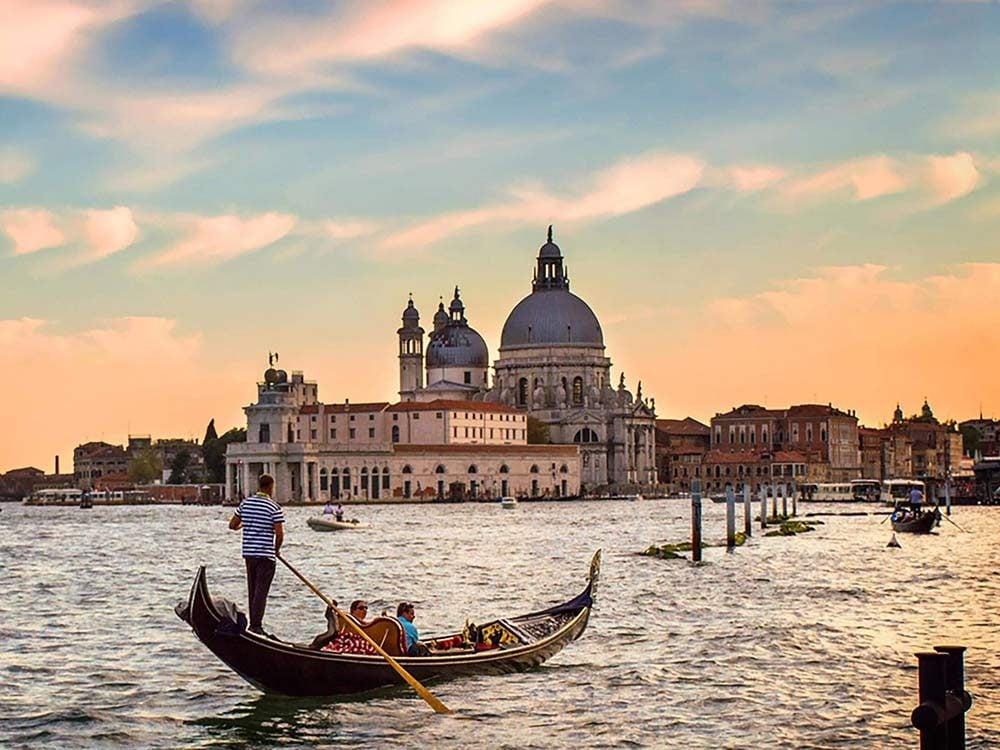 Gondola ride in Italy