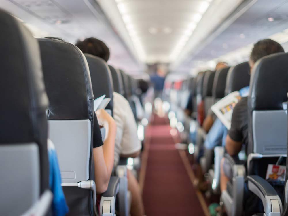 Economy class on plane
