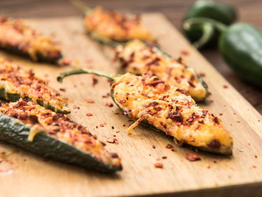 Baked jalapenos with cheese