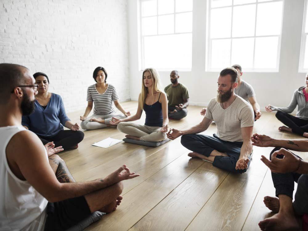 Group meditation class