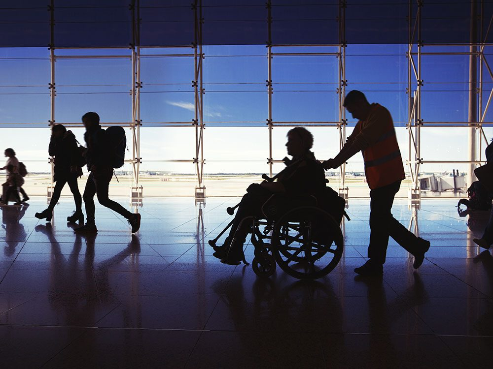 Airport tips for seniors: Arrange for a wheelchair