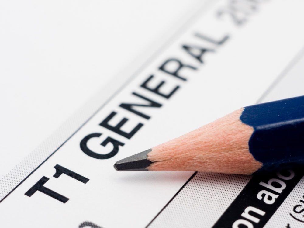 T1 Canadian tax form