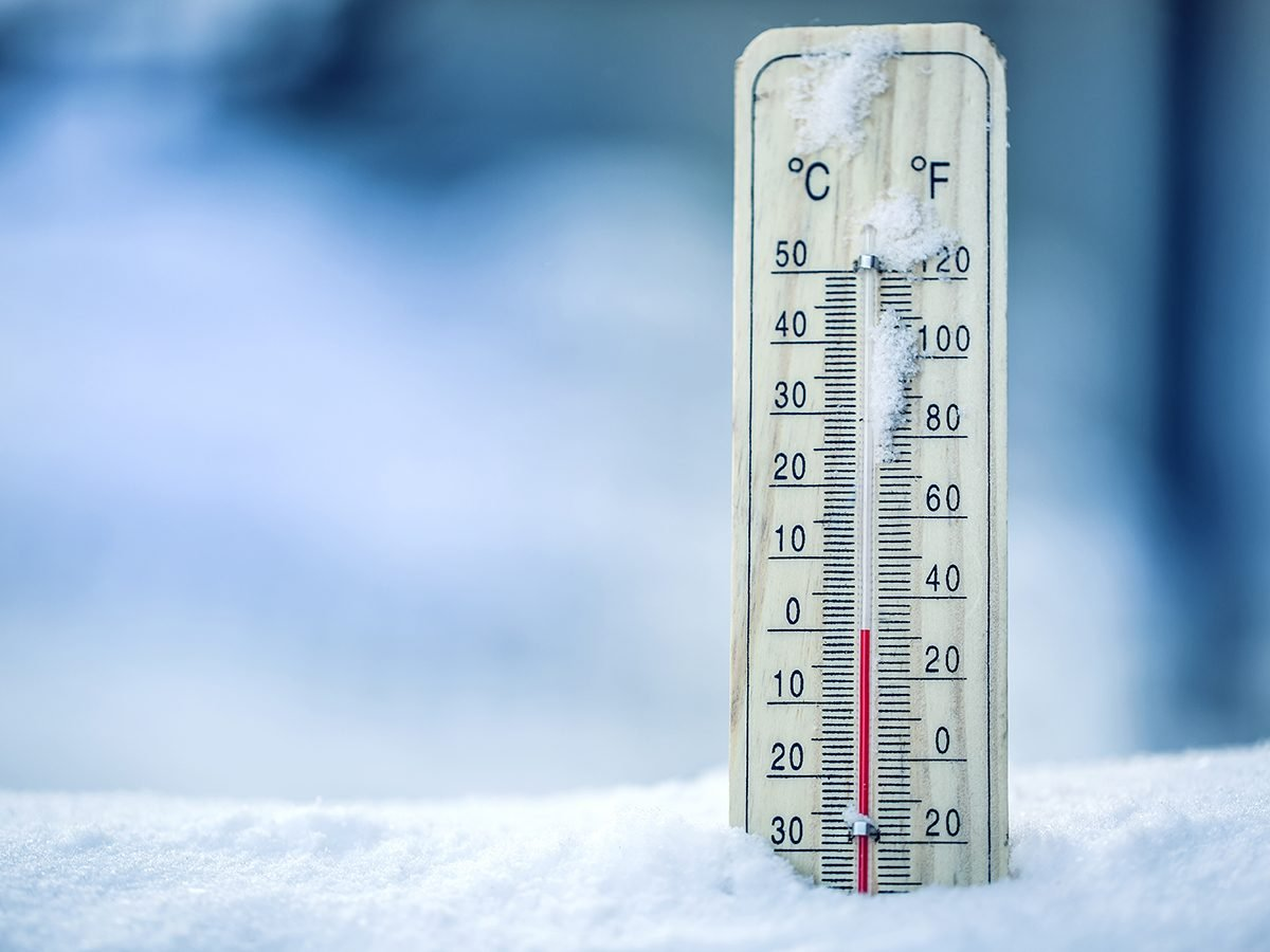 Coldest day in Canada - thermometer