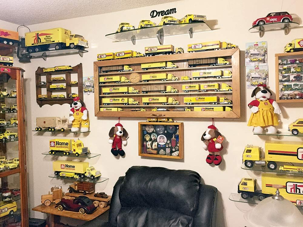 Model truck collection