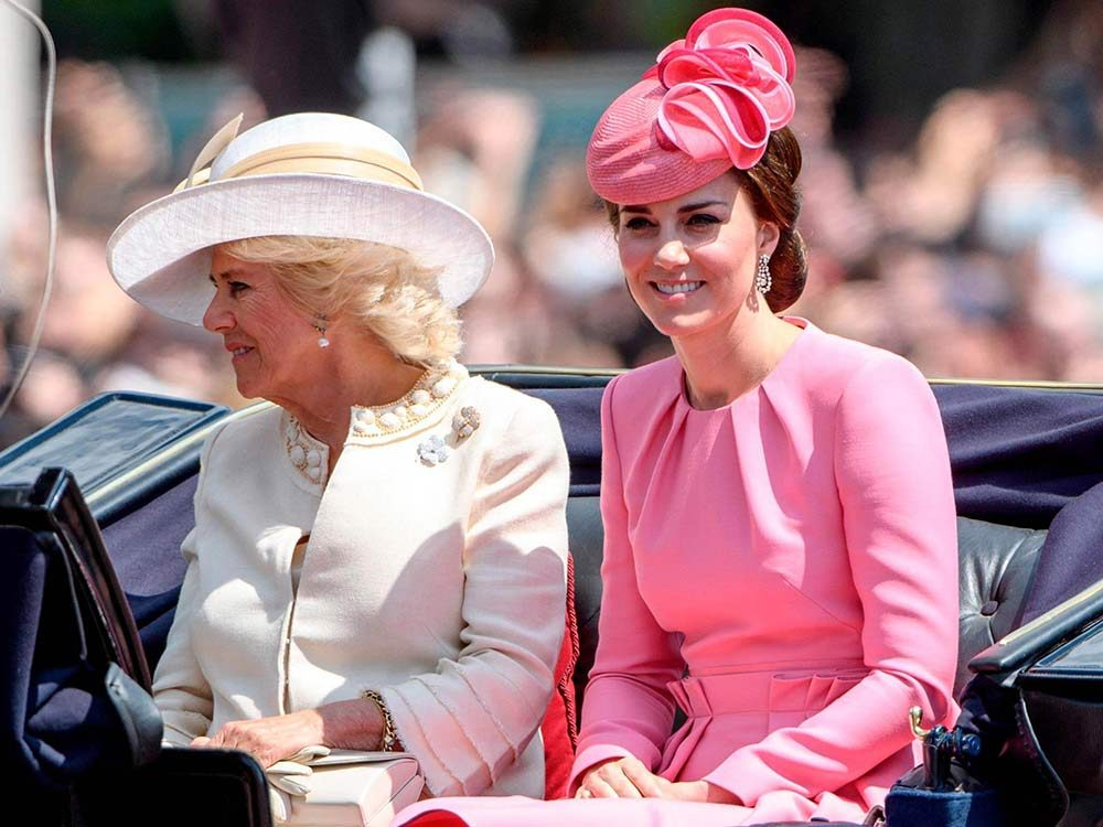 Camilla Parker Bowles and Kate Middleton
