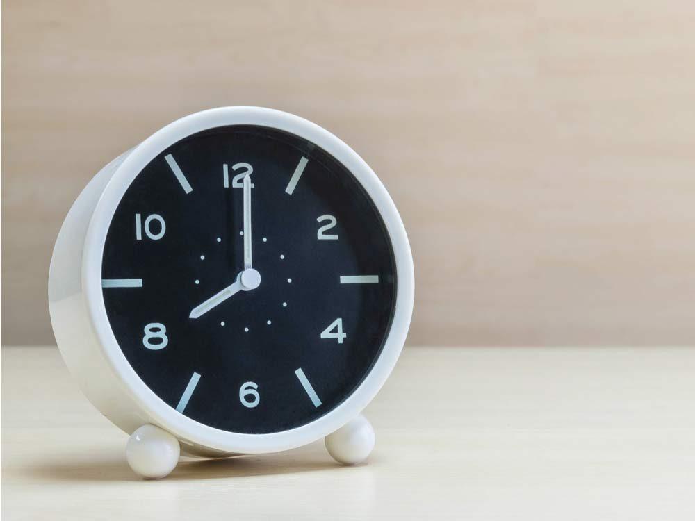 White and black clock