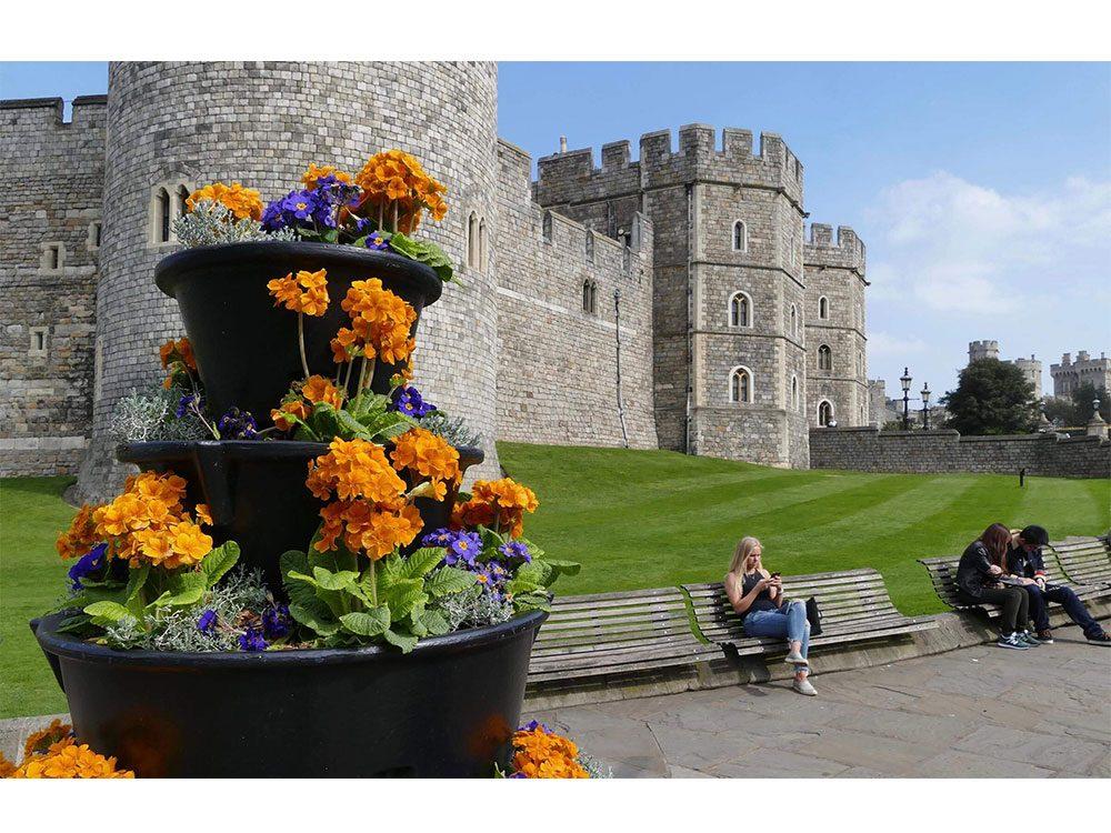 Sitting by Windsor Castle