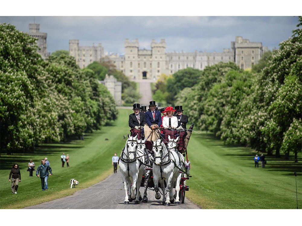 Carriage ride in Windsor Castle