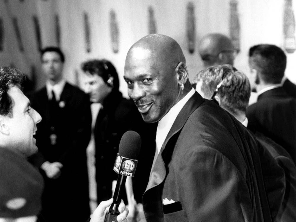 Former NBA player Michael Jordan