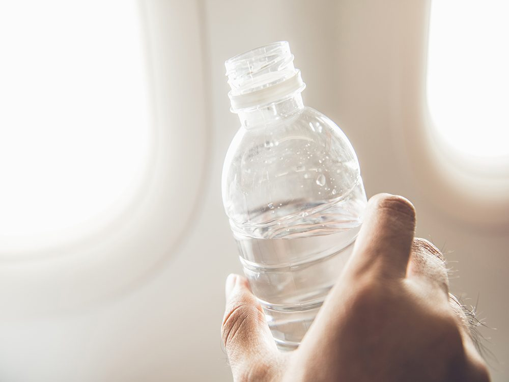 Water bottle on flight