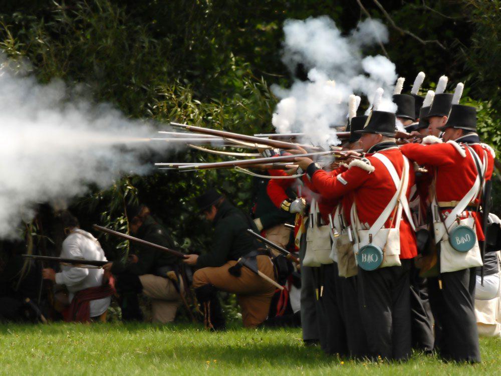 War of 1812 re-enactment