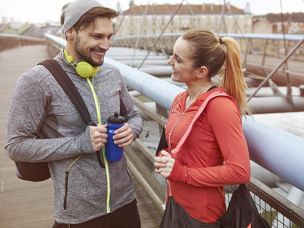 Talking post-workout