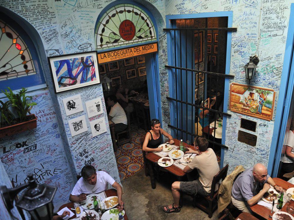 Mojito bar in Havana, Cuba