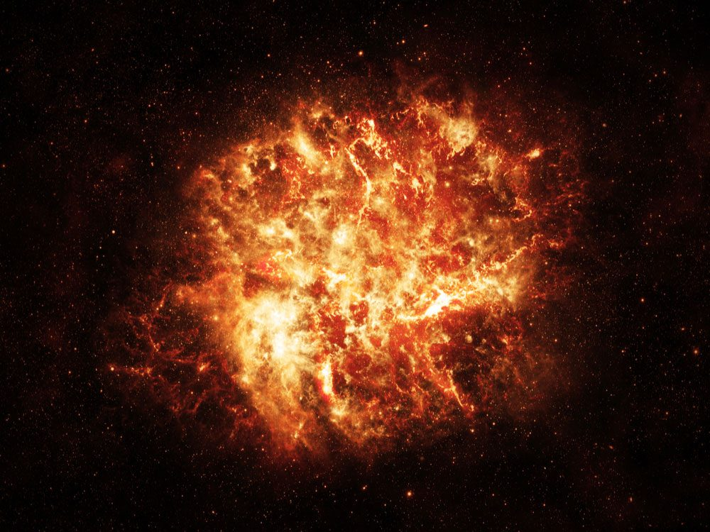 Explosion in space