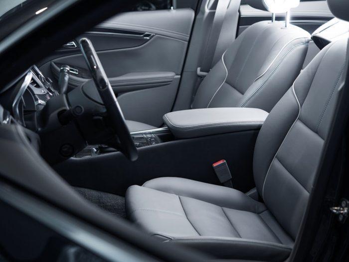 New car smell - clean new car interior