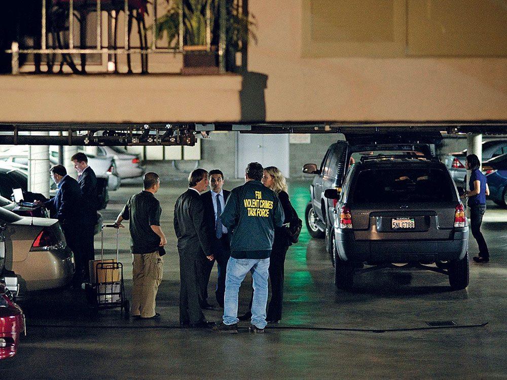 FBI agents in parking garage