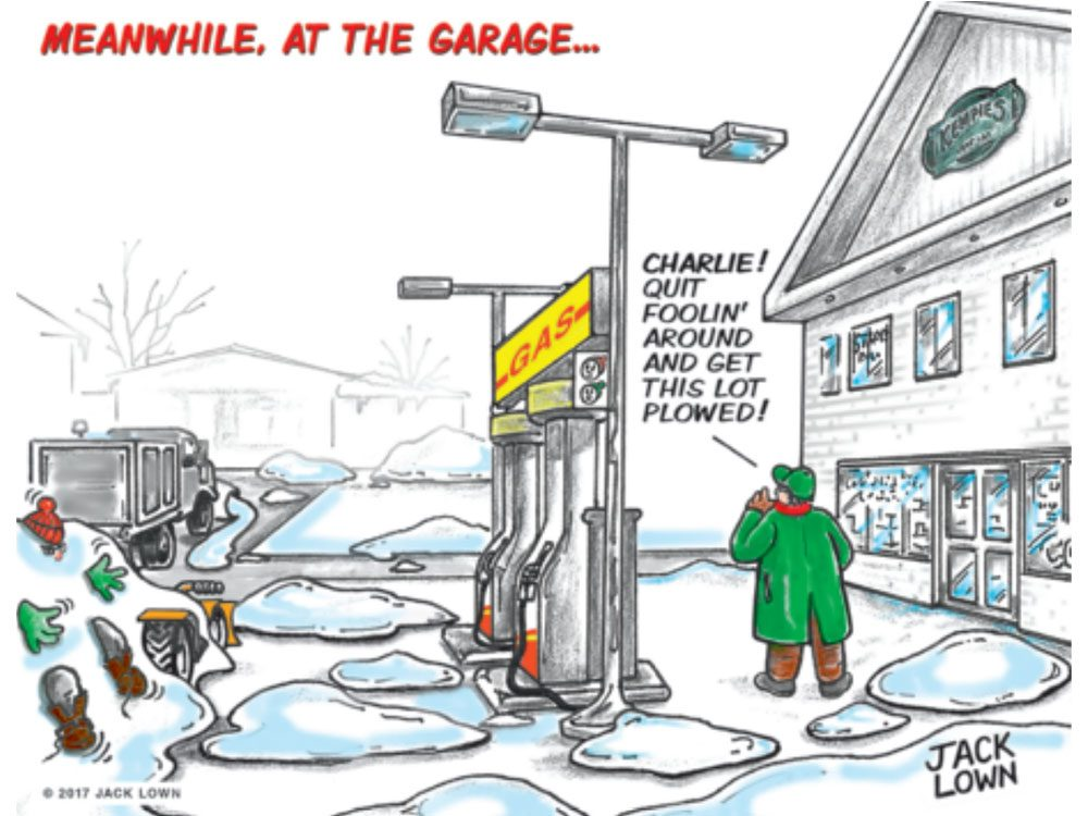 At the Garage cartoon