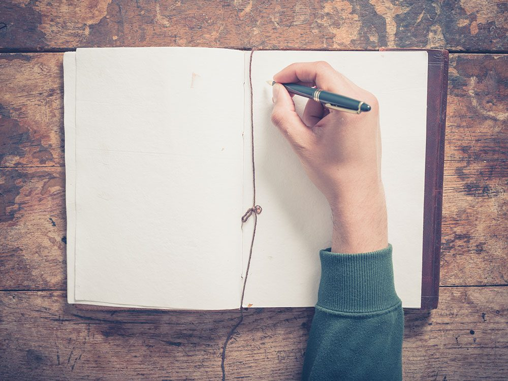 Fall asleep fast by journalling