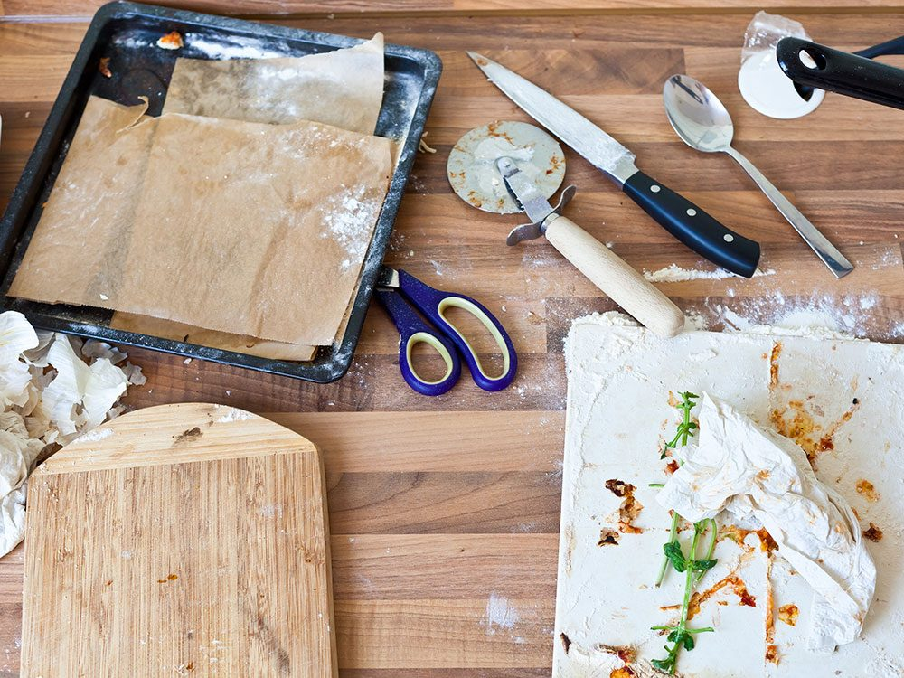 Lose weight without exercise: Clean your kitchen