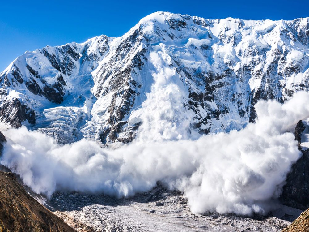 Avalanche on mountain