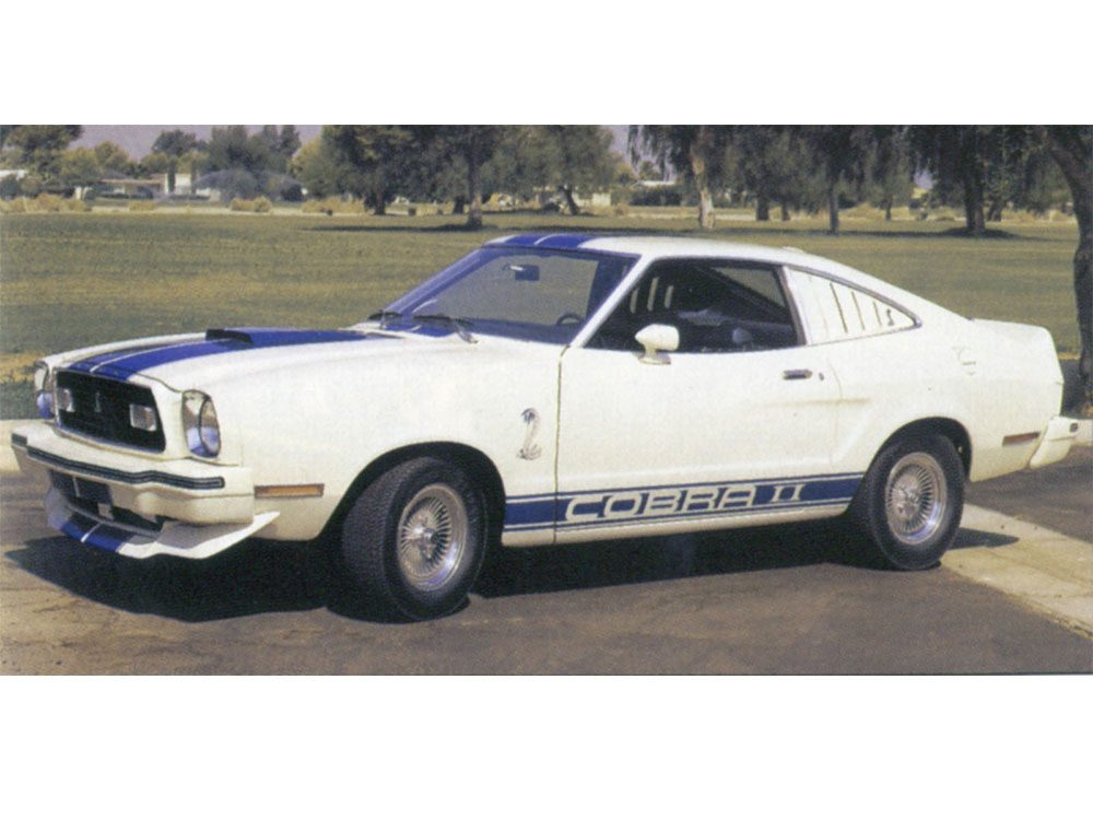 1976 white Mustang Cobra from Charlie's Angels