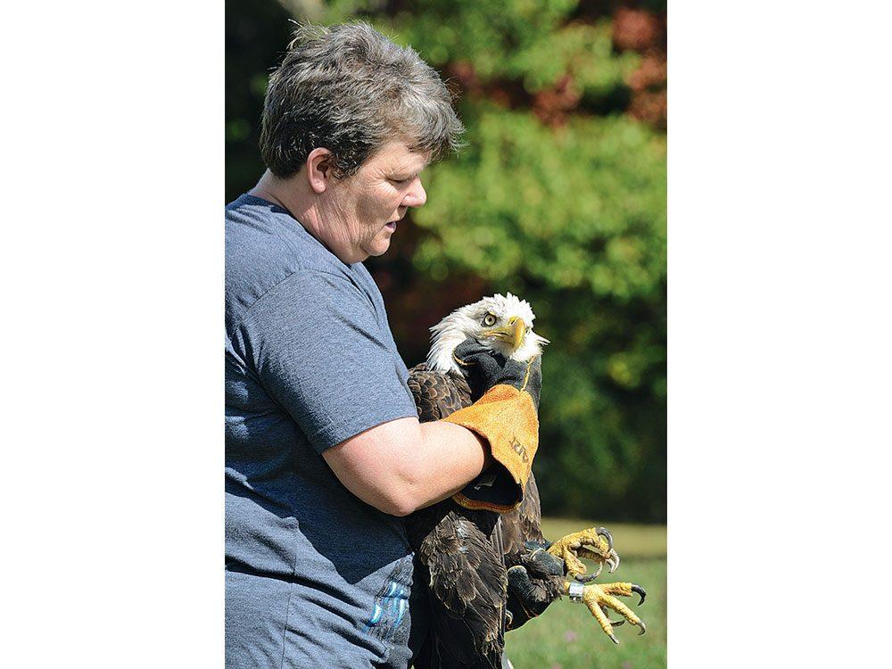 Carol with eagle