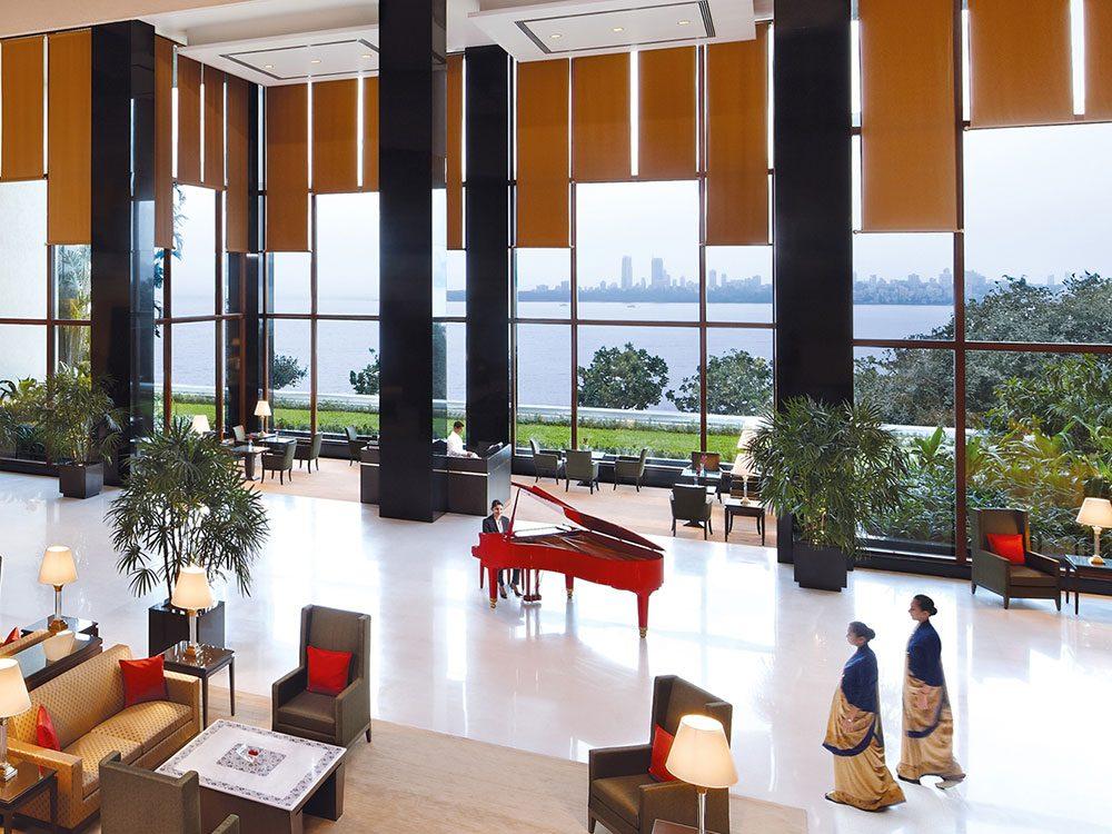 The lobby at the Oberoi Mumbai