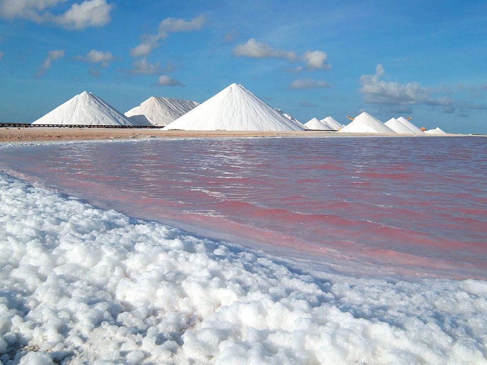 Salt pyramids of Bonaire