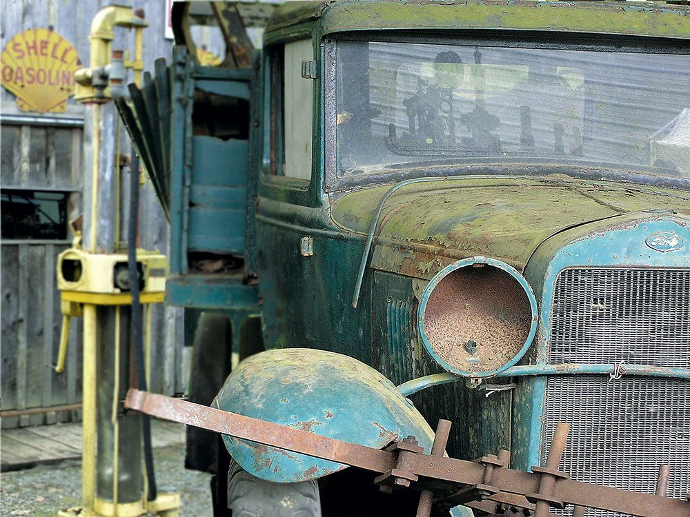 Old Ford truck awaiting restoration