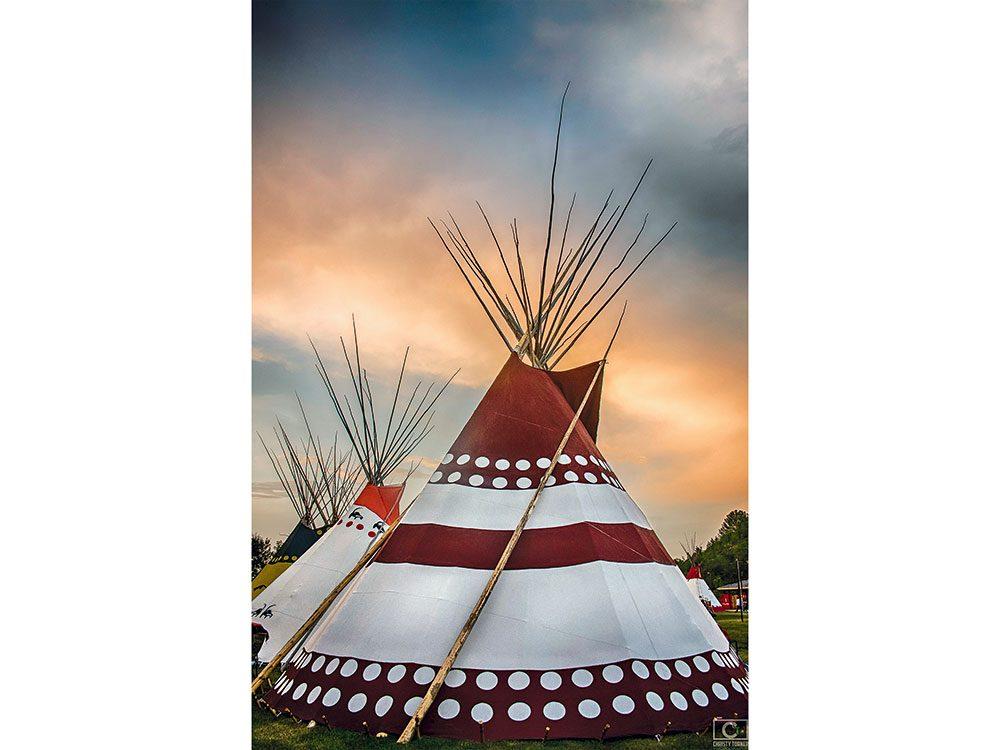 Calgary Stampede Indian Village teepees