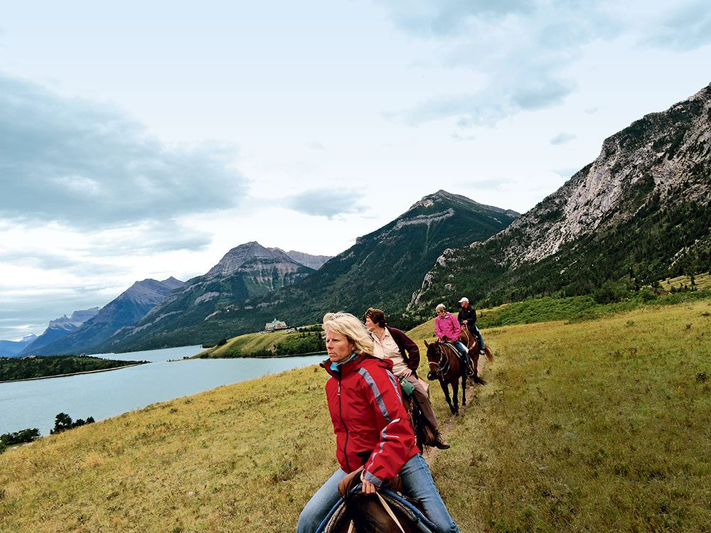 Canada Day: Horseback riding in Waterton Lakes National Park