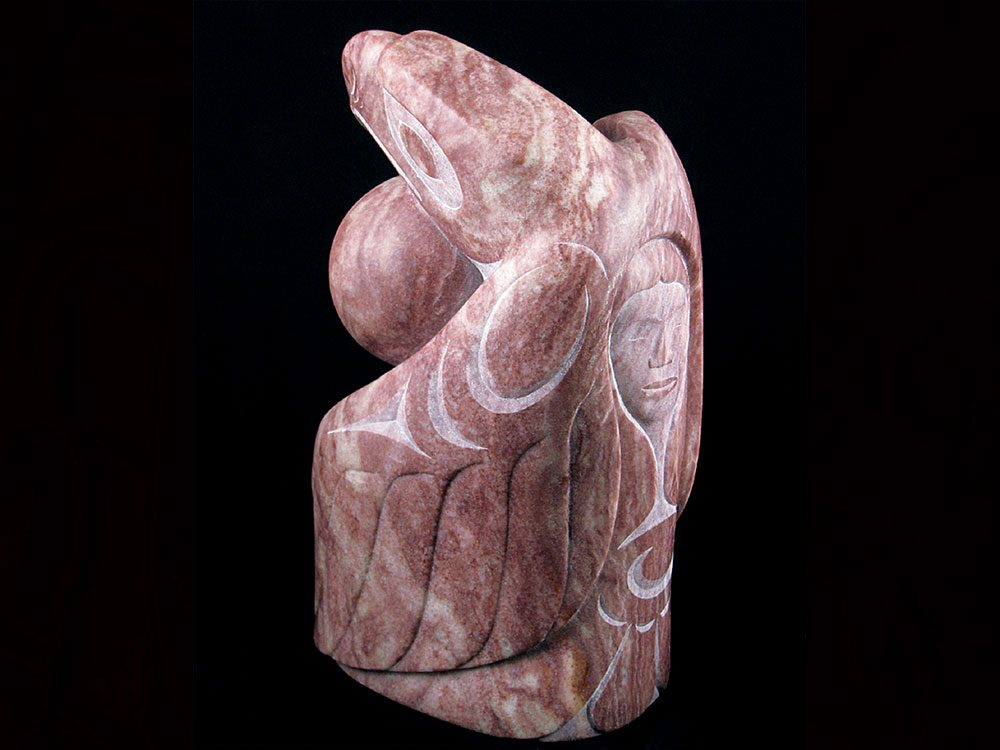 Red Eagle carving