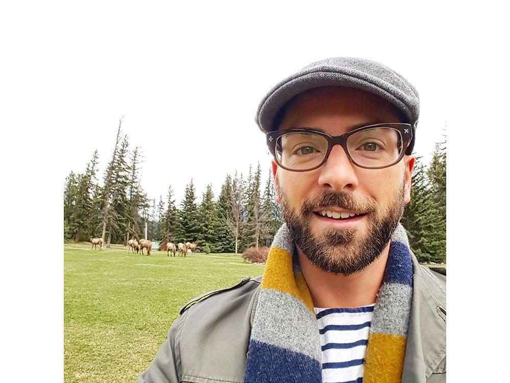 Elk at Fairmont Jasper Park Lodge