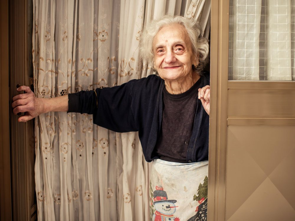 Elderly Italian woman