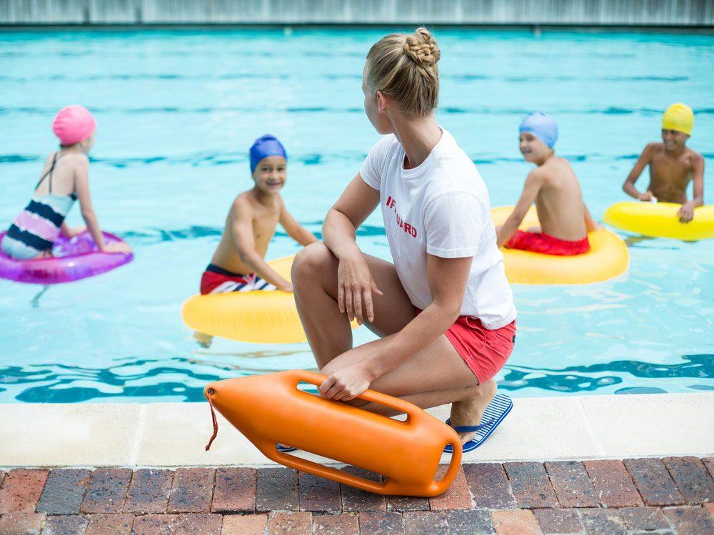 Female lifeguard on watch