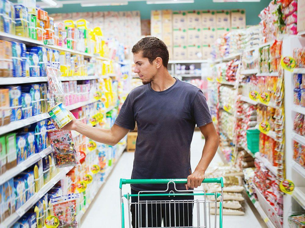 New health studies - reading food labels