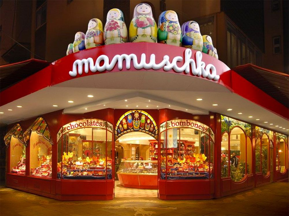 Chocolate lovers in Bariloche, Argentina: Mamuschka