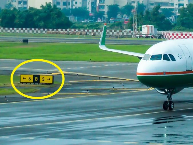 How to read airport taxiway signs