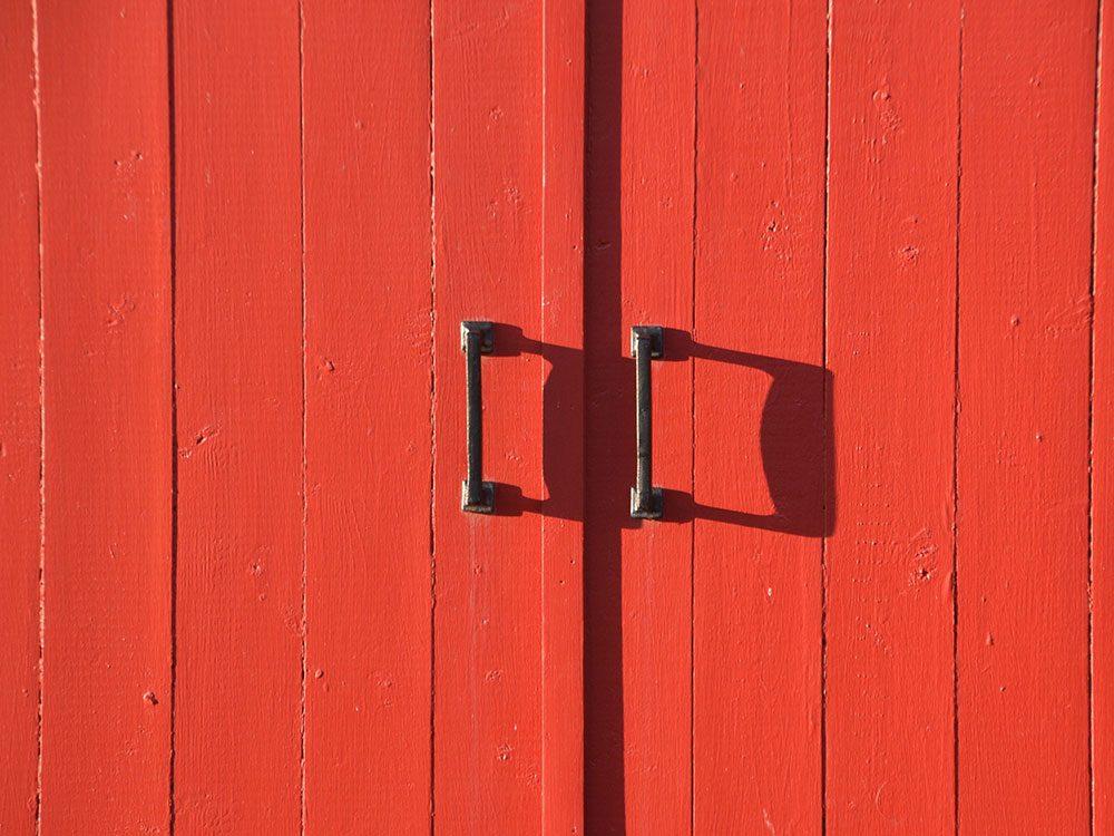 Bright red door